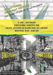 Finale competitie streetfishing in Amsterdam